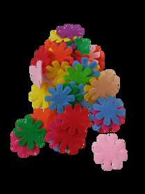 Kwiatuszki filcowe 25mm - 50szt. mix kolorów drobne listki