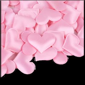 Różowe satynowe serduszka poduszeczki - 20szt.