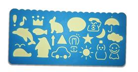 Plastikowy szablon do rysowania - niebieski v2