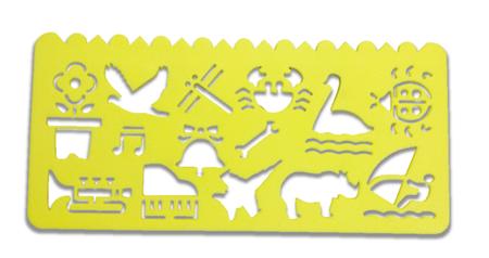 Plastikowy szablon do rysowania - żółty (1)
