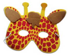 Karnawałowa maska piankowa żyrafa